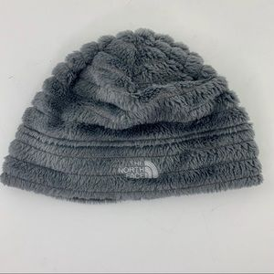 The North Face Gray Fuzzy Winter Hat